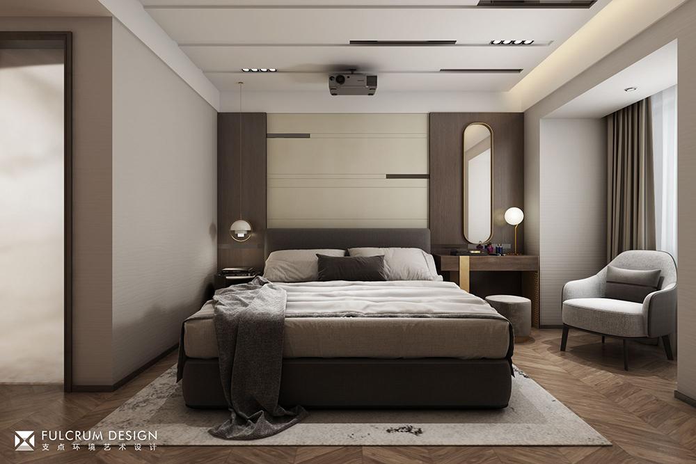 支点设计   100㎡灰调质感三房,小空间也可以有大延展